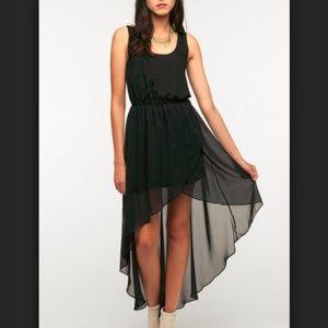UO Sparkle&Fade Black Hi Low Chiffon Dress